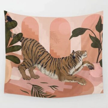 Tiger Painted Tapestry