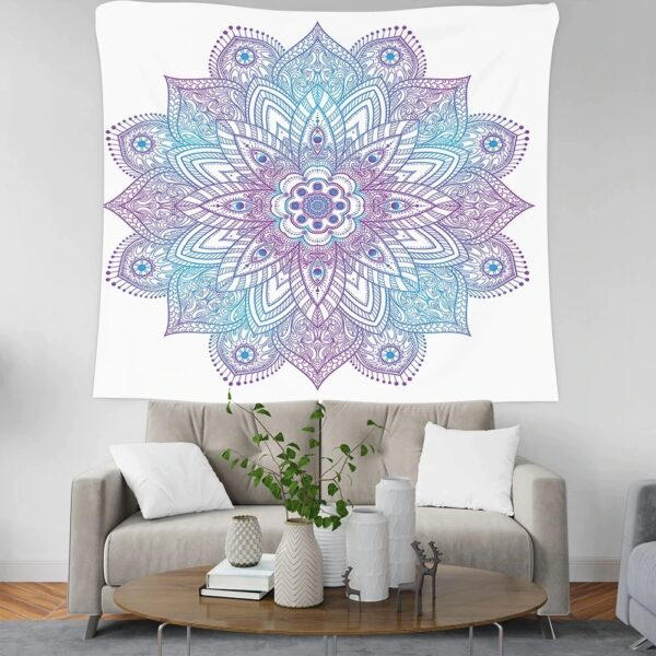 Psychedelic Mandala Tapestry for Beach Towel and Yoga Mat Decoration