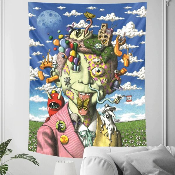 Abstract character psychedelic scene