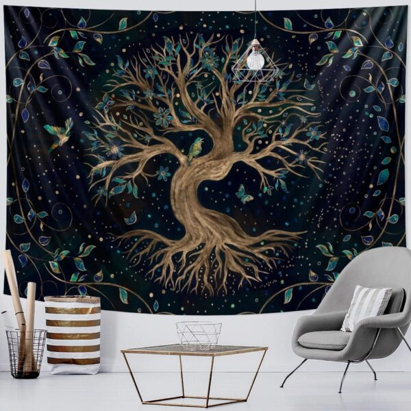 Life Trees Tapestry Wall Hanging