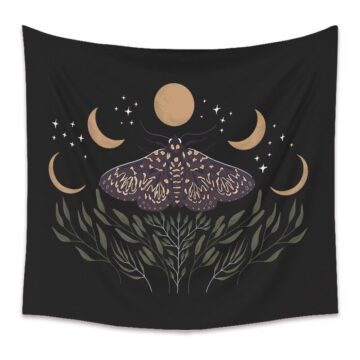 Butterfly Floral Tapestry, Daisy Flower