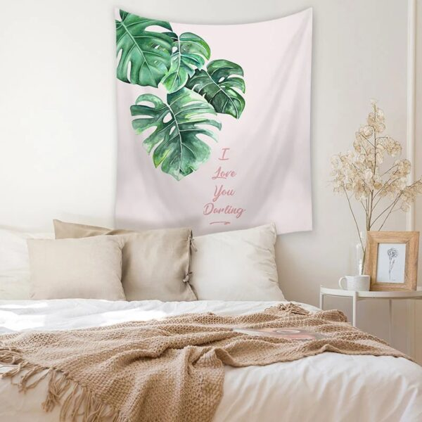 Tropical Leaves Decorative Tapestry