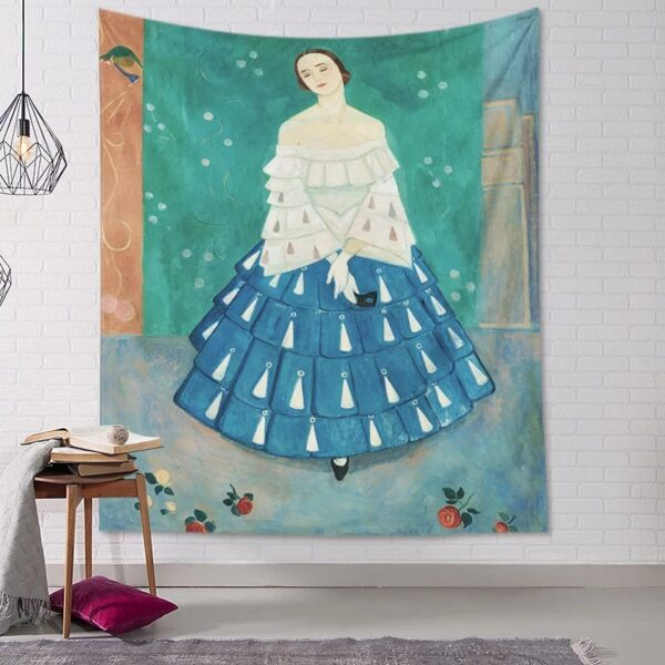 Matisse Tapestry Women Girls Printed Polyester Tapestry Wall Hanging Home Decor Living Room Carpet Decorative Rectangle Tapestry Wall