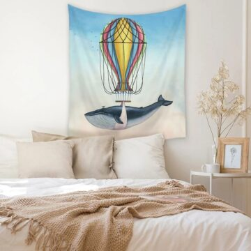 Ocean Style Wall Hanging Tapestry Whale