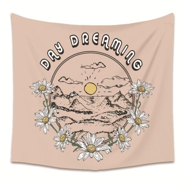 Colorful Sun Wall Hanging Tapestry Moon