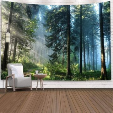 Landscape Wall Tapestry Forest Wall Decor Bedroom# 3
