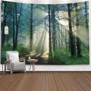 Landscape Wall Tapestry Forest Wall Decor Bedroom# 1