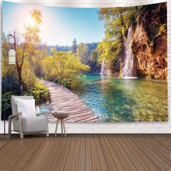 Landscape Wall Tapestry Forest Wall Decor Bedroom Wall Blanket Decor