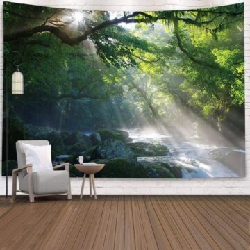 Landscape Wall Tapestry Forest Wall Decor Bedroom# 4