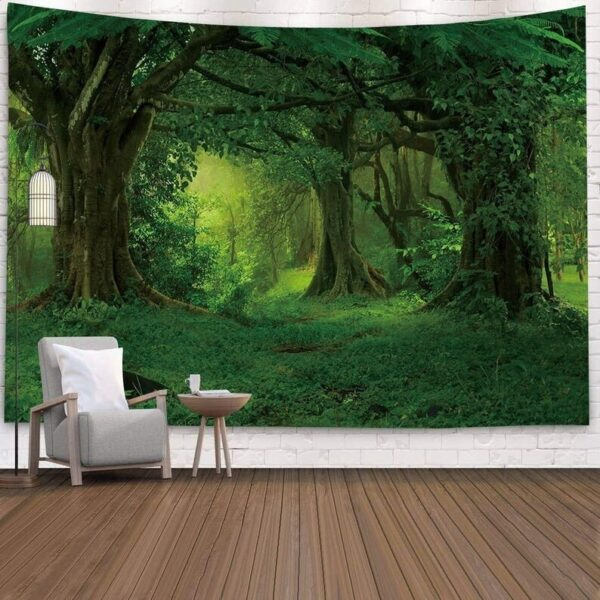 Landscape Wall Tapestry Forest Wall Decor Bedroom# 2
