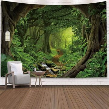 Landscape Wall Tapestry Forest Wall Decor Bedroom# 5