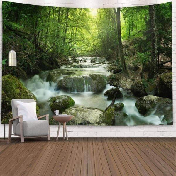 Landscape Wall Tapestry Forest Wall Decor Bedroom# 6