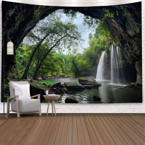 Landscape Wall Tapestry Forest Wall Decor Bedroom# 7