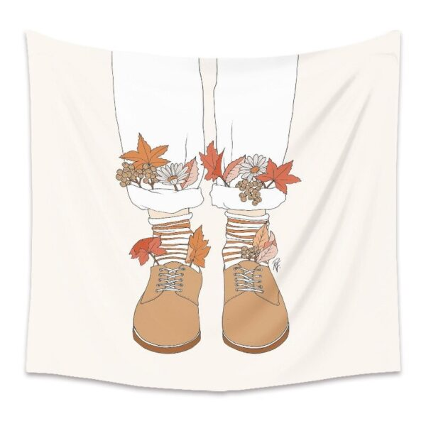 Personality Wall Tapestry Women Floral Butterfly Tapestry Wall Hanging# 8