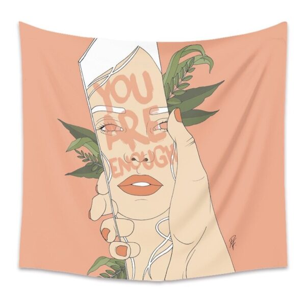 Personality Wall Tapestry Women Floral Butterfly Tapestry Wall Hanging# 5