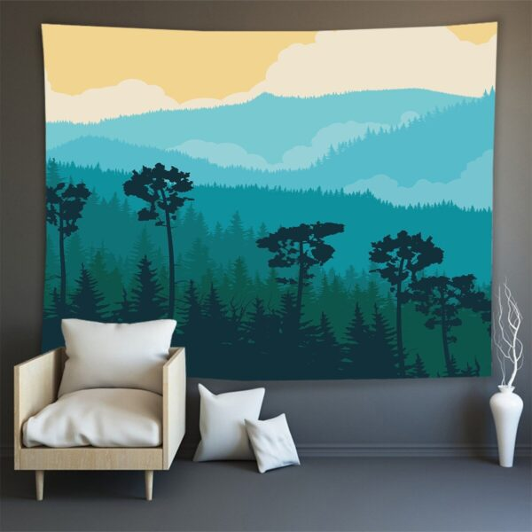 Hippie Wall Carpet Psychedelic Tapestry Forest Landscape Pattern# 3