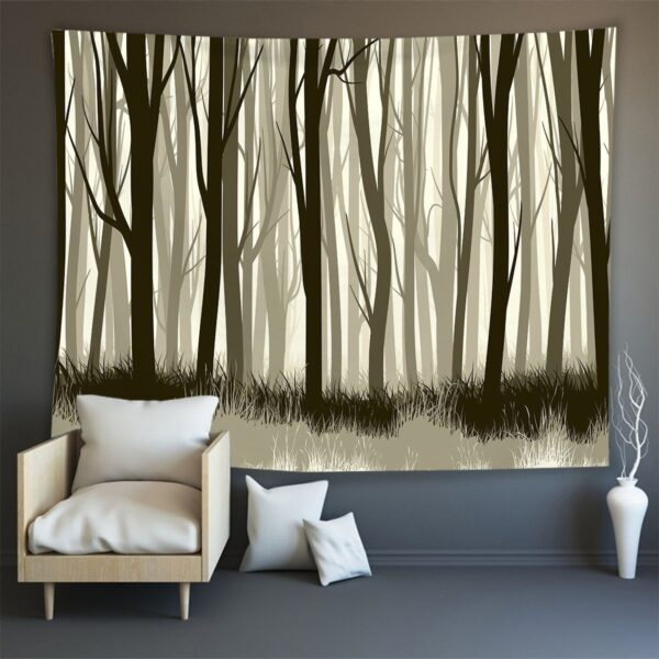 Hippie Wall Carpet Psychedelic Tapestry Forest Landscape Pattern#7