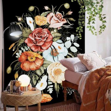 Art Home Decoration Accessories Psychedelic flower Tapestry#6