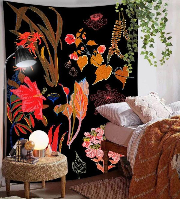 Art Home Decoration Accessories Psychedelic flower Tapestry#5