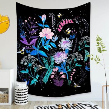 Art Home Decoration Accessories Psychedelic flower Tapestry#4