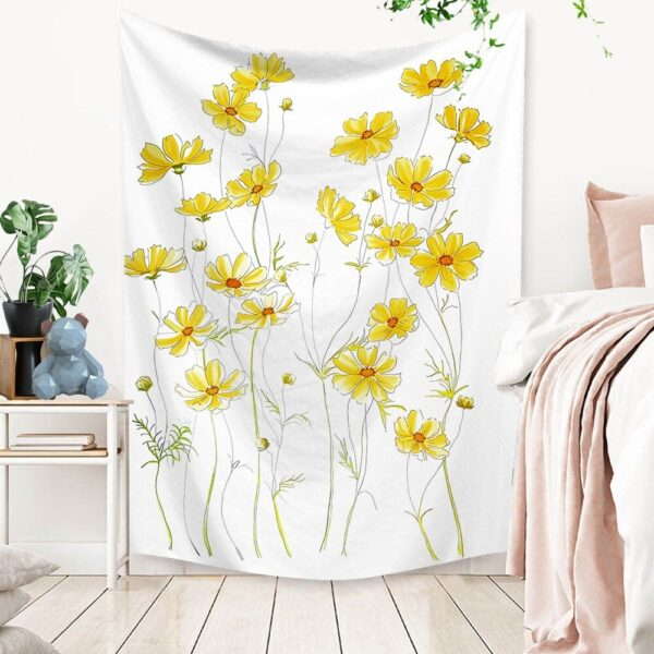 Art Home Decoration Accessories Psychedelic flower Tapestry#7