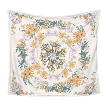 Art Home Decoration Accessories Psychedelic flower Tapestry#3