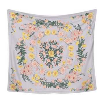 Hippie Wall Carpet Colorful Flowers Pattern Tapestry Wall Hanging# 1