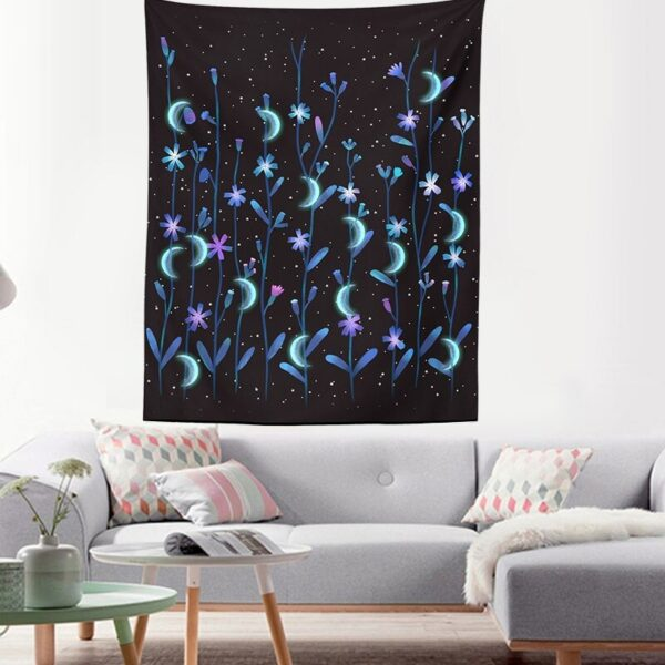 Art Home Decoration Accessories Psychedelic flower Tapestry