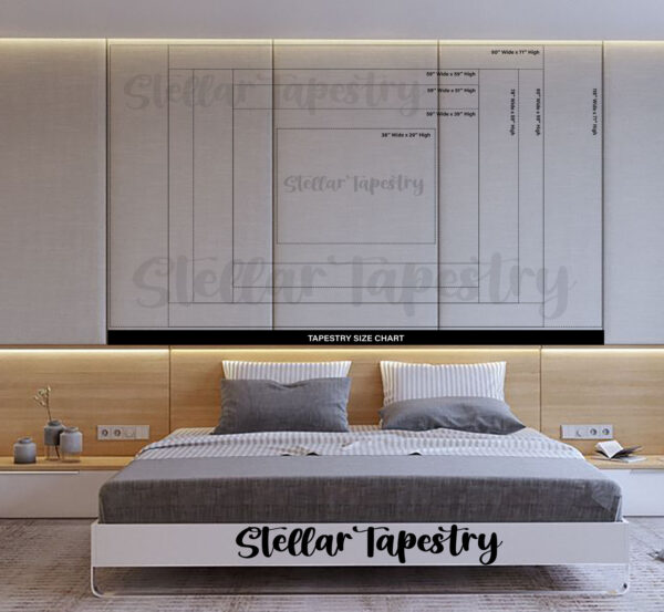 Tapestry size chart