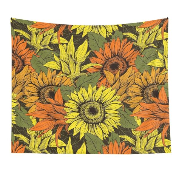 Sunflower pattern Printed Wall Hanging Tapestry