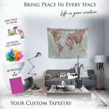 Custom Tapestry From Photo -Tapestries Custom Backdrop, Personalize Wedding Tapestry