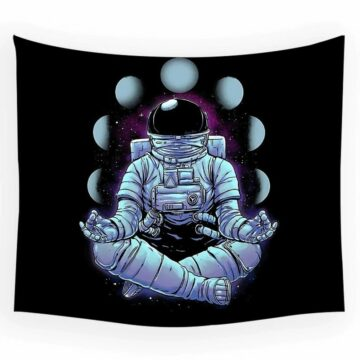 Astronaut Tapestry Space Hippies Wall Carpet Psychedelic Tapestry Moon Tapestries