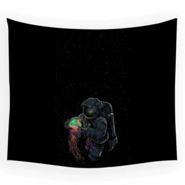 Astronaut Tapestry Space Hippies Wall Carpet Psychedelic Tapestry Moon Tapestries 7