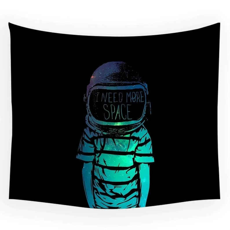 Astronaut Tapestry Space Hippies Wall Carpet Psychedelic Tapestry Moon Tapestries 4