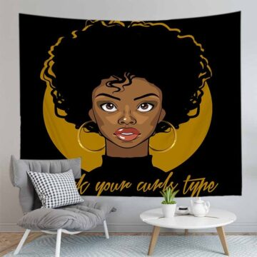 Toot Lips Fashion Girl Printed Tapestry Wall Hanging Cloth Home Living Room Decoration